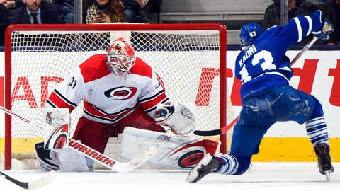 Lack has Leafs' number in shutout win