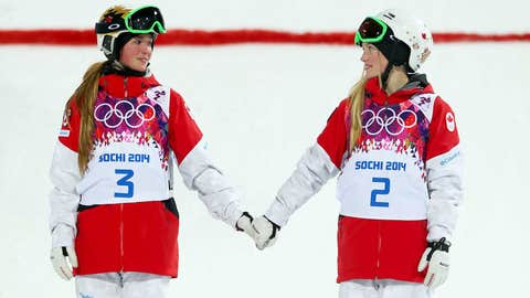 Sisters finish 1 and 2 in the moguls
