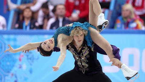 Ice dancing perfection