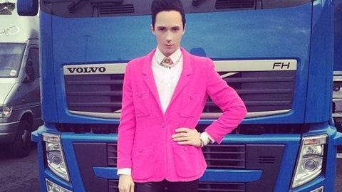 Johnny Weir's outfits of the day
