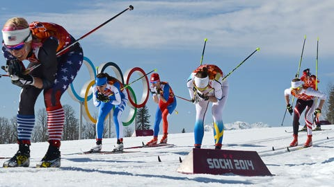 Here come the cross-country skiers