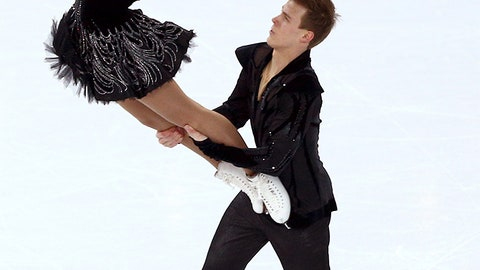 Black swan on ice
