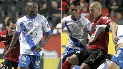 DaMarcus Beasley and Michael Orozco Fiscal, Puebla