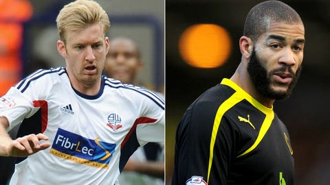 Tim Ream, Bolton defender and Oguchi Oneywu, Sheffield Wednesday defender