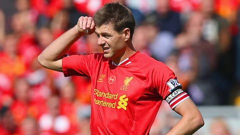 Liverpool: Stevie G just slipped