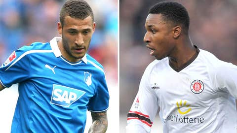 Fabian Johnson and Joseph Gyau, TSG 1899 Hoffenheim