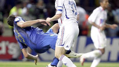 2006: Zinedine Zidane headbutts Marco Materazzi
