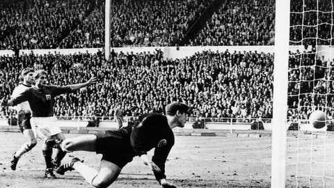 1966: Geoff Hurst's controversial goal