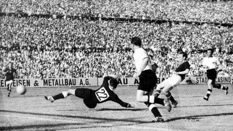 West Germany 3 Hungary 2, Bern, 1954