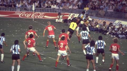 Belgium 1 Argentina 0, Barcelona, 1982