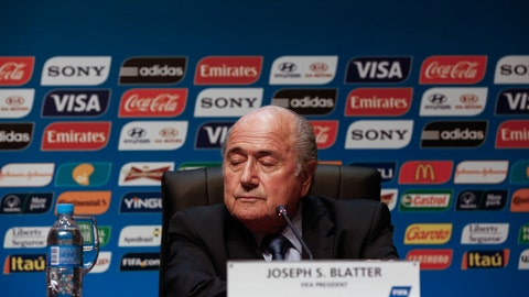 Sepp Blatter lashes out at critics during a meeting in São Paulo