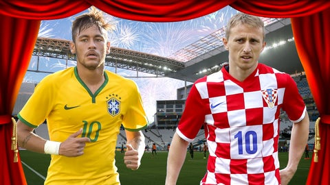 Brazil and Croatia prepare to open the World Cup