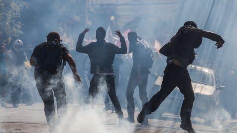 Police, protesters clash in Sao Paulo