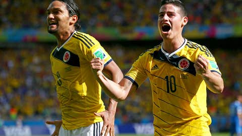 Colombia dispatches Greece in yellow-clad Belo Horizonte