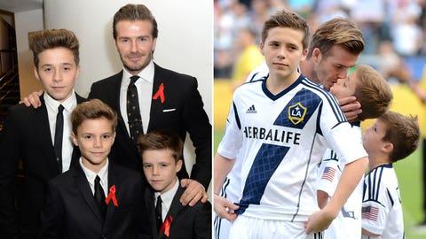David and Brooklyn Beckham (England)