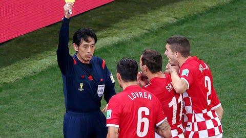 Poor officiating at Brazil-Croatia opener (June 12)