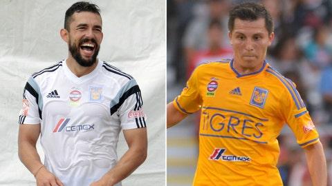 Herculez Gomez and Jose Francisco Torres, UANL Tigres