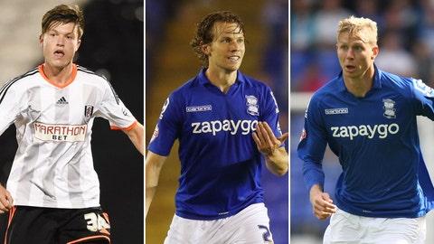 Emerson Hyndman, Fulham and Brek Shea and Jonathan Spector, Birmingham City