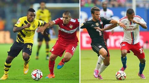 Joe Gyau, Borussia Dortmund winger and Julian Green, Hamburg winger