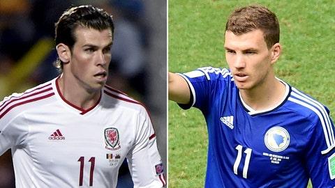 Wales vs. Bosnia-Herzegovina (live, Friday, FOX Sports 2, 2:45 p.m. EDT)
