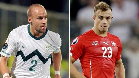 Slovenia vs. Switzerland (live, Thursday, FOX Soccer 2 GO, 2:45 p.m. ET)
