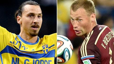 Sweden vs. Russia (Thursday, FOX Soccer Plus, 2:45 p.m. EDT)