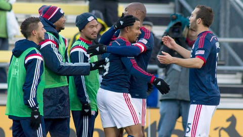 New England Revolution – lead 4-2 on aggregate over Columbus – second leg: v. Columbus on Sunday