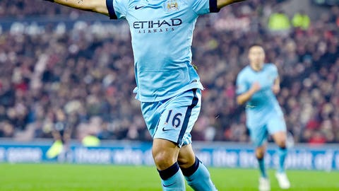 Manchester City's Sergio Aguero is in beast mode