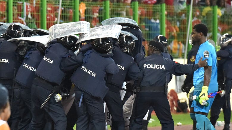 Ghana beat Equatorial Guinea in Cup of Nations semifinal marred by unruly fans