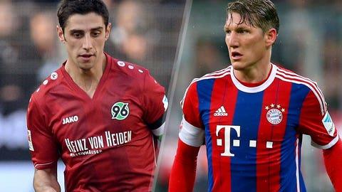 Bundesliga: Hannover vs. Bayern Munich (live, Saturday, 9:30 a.m. ET)