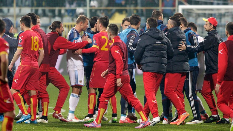 Russia given 3-0 win over Montenegro in abandoned Euro 2016 qualifier