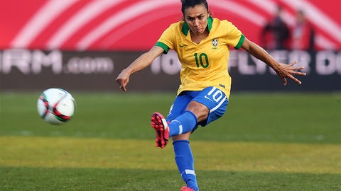 One woman gang? Marta puts Brazil on her shoulders