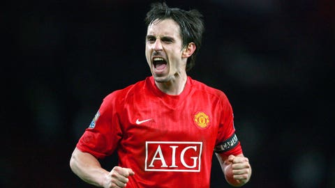 Gary Neville - 115 appearances