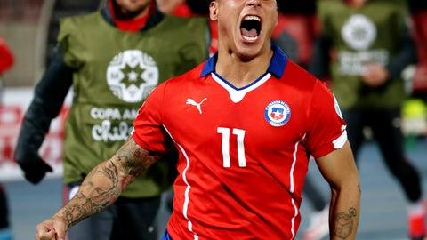Goal of the tournament: Eduardo Vargas, Chile vs. Peru