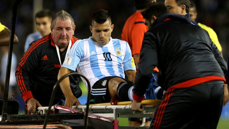 Manchester City's Aguero set for unspecified period on sidelines