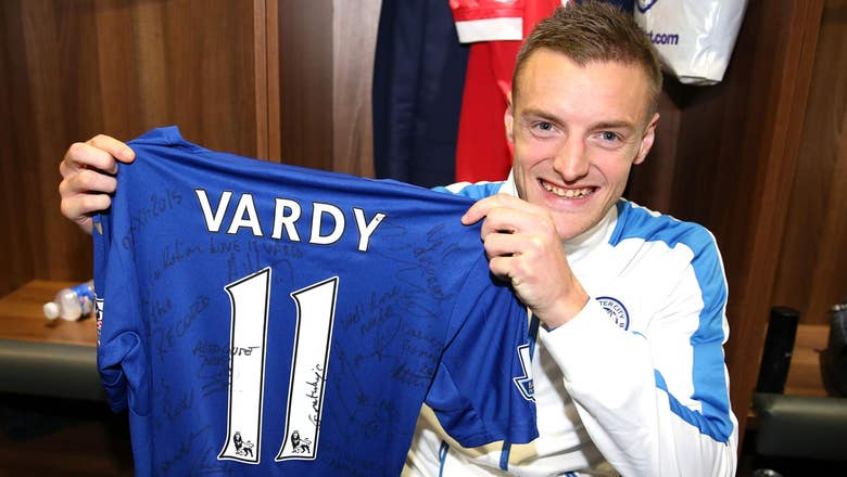 Leicester striker Vardy 'delighted' with EPL scoring record