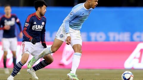 New York City FC midfielder Khiry Shelton