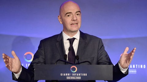 Trump ban could hit World Cup bid:Infantino