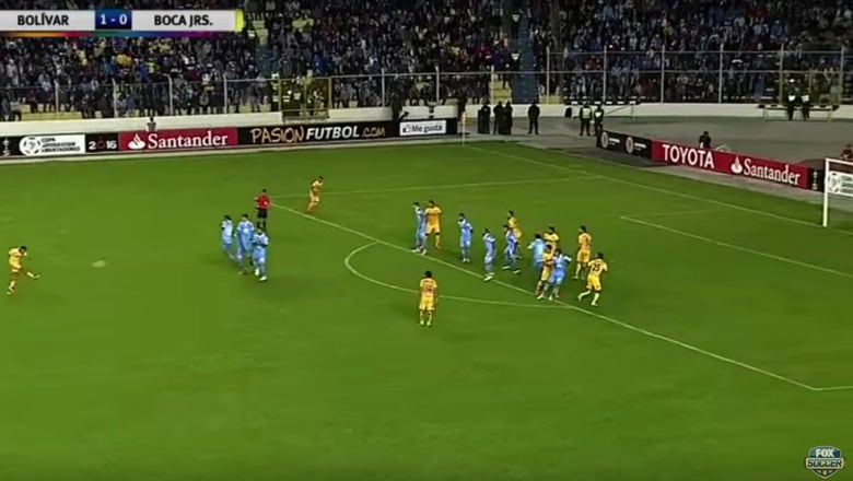 Boca Juniors scored an absurd 40-yard equalizer in the 95th minute