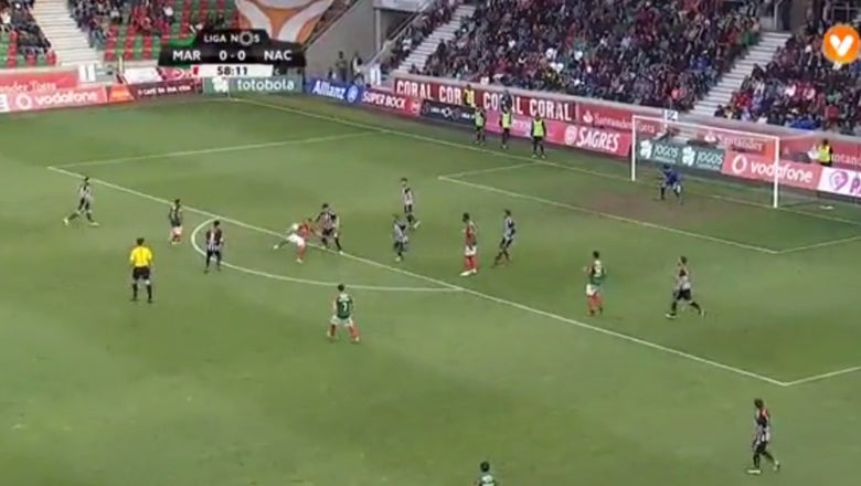 Puskas contender! Portuguese player nets flabbergasting volley
