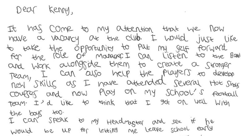 This 7-year-old boy who applied for a managerial gig is the coolest