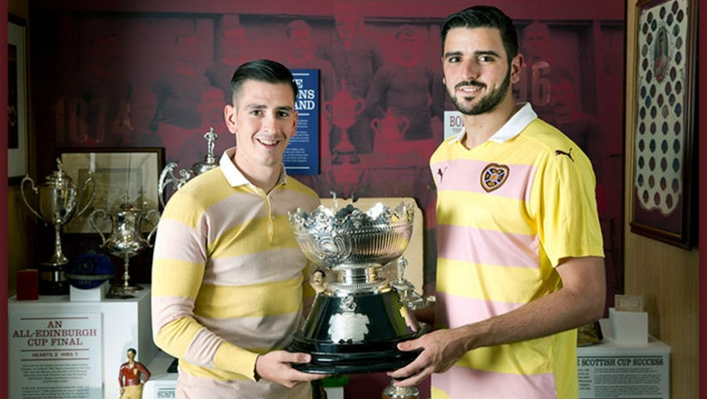 Hearts' new kit looks like a pink and yellow creamsicle, but it's actually great