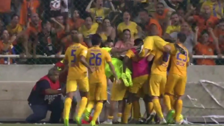 Watch APOEL score 3 last-gasp goals to advance in Champions League