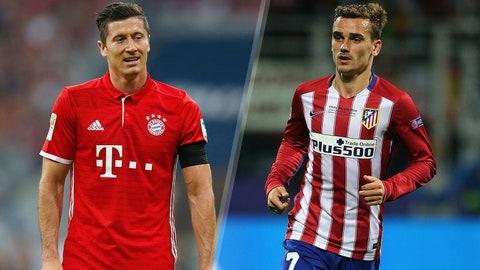 Group D: Bayern Munich, Atletico Madrid (PSV, Rostov)