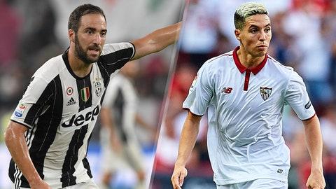 Group H: Juventus, Sevilla (Lyon, Dinamo Zagreb)