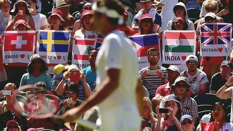 Fans love Federer