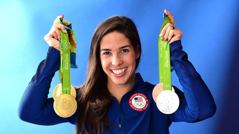 The United States won 16 gold medals in swimming