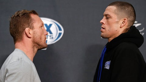 Gray Maynard faces off with Nate Diaz