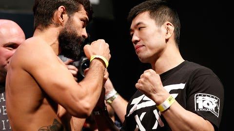 UFC 179: Aldo vs. Mendes II weigh in