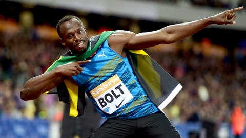 Usain Bolt's world record 200-meter dash (19.19 seconds)